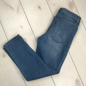 Free People High Waisted Cropped Jeans Sz 30